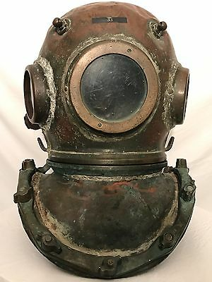 Maritime Round windows SIEBE GORMAN & CO diving helmet - 360' HD VIDEO