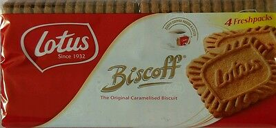 4 Pack Lotus Biscoff Original Caramelised Biscuits 350g