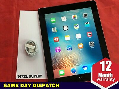 Grade A- Apple iPad 2 32GB, Wi-Fi + 3G (Unlocked), 9.7in - Black iOS 9  Ref:98