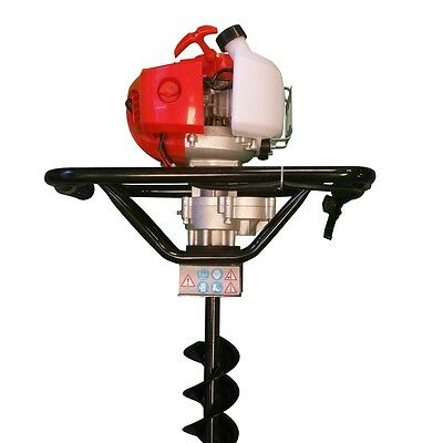 Hole Borer 52cc Earth Auger Petrol Ground Drill Fence Post + 100mm Drill Bit