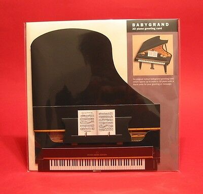 Music Gift 3D Grand Piano Greeting Card Musician Piano Teacher Music Student