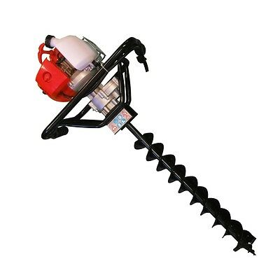 Fence Post Drill 52cc Petrol Earth Auger Hole Borer Ground + 250mm Drill Bit