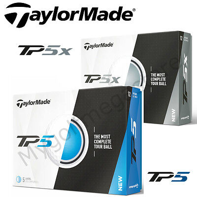 TaylorMade 2017 TP5 Or TP5X Golf Balls - White - New