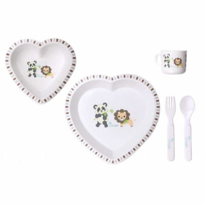 Bo Jungle Melomine Dinner Set - Panda and Lion