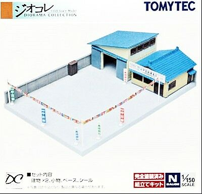 NIB N Scale Tomytec 042-2  Ussed Car Dealers Yard Unassembled Structure Kit