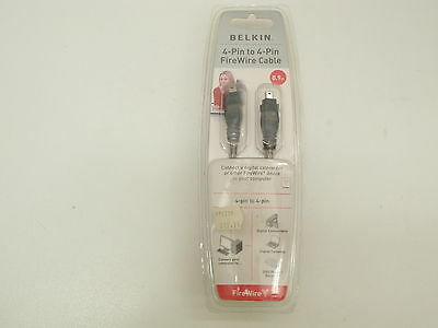 BELKIN 4-PIN TO 4-PIN FIREWIRE CABLE 0.9m 1.8m F3N402-03-ICE F3N402-06-ICE