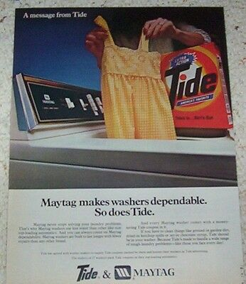 1981 ad page - TIDE laundry soap detergent & Maytag washer PRINT ADVERTISING