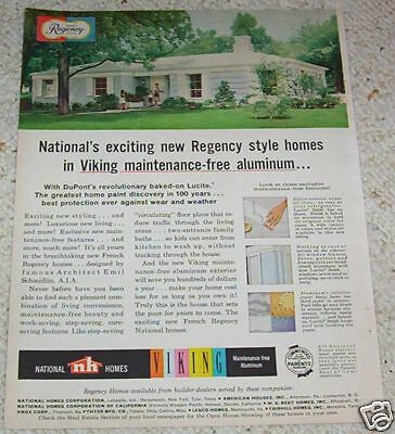 1960 ad page - National Homes house builders VINTAGE 1-Page Print ADVERTISING