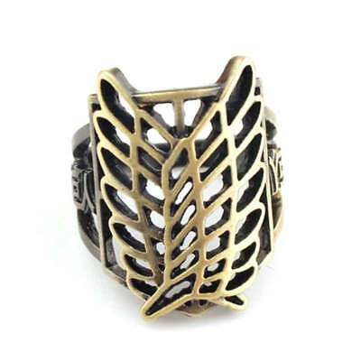 Anime Attack On Titan Scouting Legion Wing Finger Ring Pendant Cosplay Gift