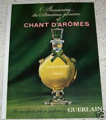 1963 print ad page - Chant D'Aromes Guerlain vintage ADVERT perfume Advertising