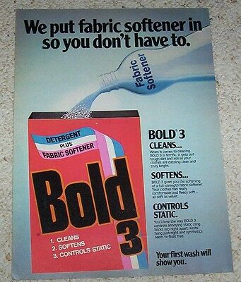 1979 advertising page - Bold Laundry Soap detergent vintage PRINT AD Clipping