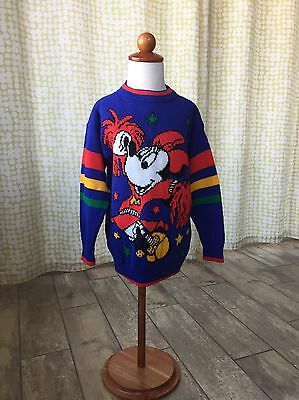 Vintage Mickey Minnie Disney Sweater Cheerleader Girls Size 6