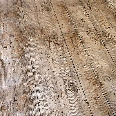 Vintage Brown Wooden Plank Rustic Wood Effect Pvc Oil Vinyl Table Cloth Cover