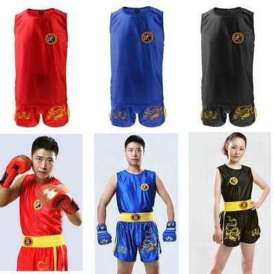 Unisex MMA Fight UFC Cage Fight Clothes Grappling Thai Kick Boxing Vest Shorts