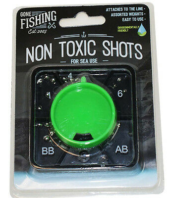 FISHING SHOTS Non Toxic Shocks Assorted Weights 1 4 6 AB BB Easy To Use