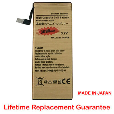 High Capacity Replacement Gold Battery New Official for iPhone 6S ONLY 3080mAh