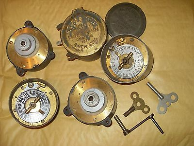 Job Lot Of Various Gas Lamp Timer Clocks For Restoration/Repair - Horstmann