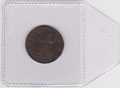 1733 George Ii Farthing In Used Fine Condition