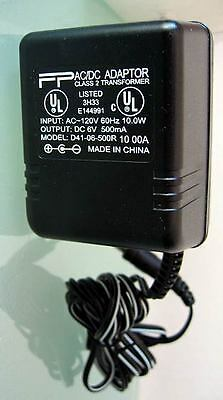 US 120V ONLY AC Power Wall Adaptor Universal Adapter DC 6V 500mA New