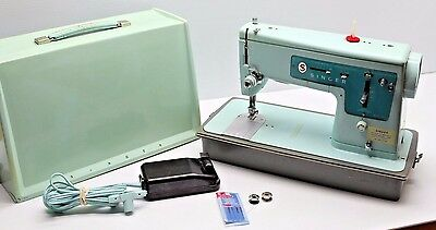 Vintage SINGER 347 Industrial Strength HEAVY DUTY Sewing Machine w/ Case