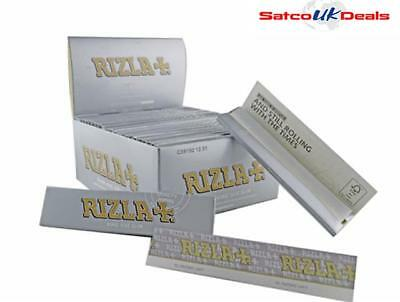 10 X Rizla Silver King Size Slim Thin Cigarette Smoking Rolling Papers New
