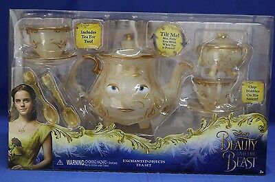 Disney Store Beauty and the Beast Enchanted Objects Tea Set Mrs Potts Chip
