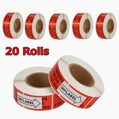 20 Roll of 500 1X2 This Is a Set Do Not Separate Shipping Stickers Mailing Label