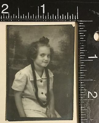 Vintage Photograph Great Photo booth of a young girl smiling 1940s