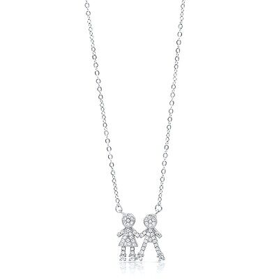 925 Silver Mother'S Necklace With Children Charms