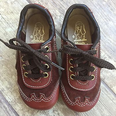 Vintage boy girl suede and leather shoes Hush Puppies toddler size 6 7
