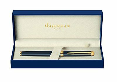 Waterman S0920750 Hemisphere Rollerball Pen with Fine Nib - Matte Black with Gol