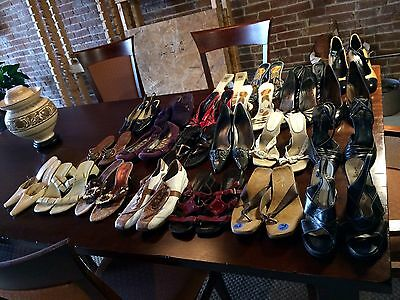 Lot Of 23 Pair Of Designer Shoes Prada Cole Hann Kors 7.5-8 Vtg Euc Nice C List