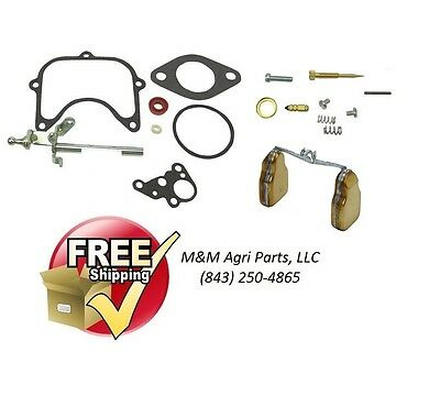 Holley Carburetor Kit & Float Ford 3 Cyl 2000 3000 4000 Tractor Holley Carb