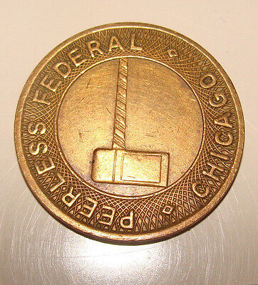 Vintage Chicago Parcoa Parking Token Peerless Federal