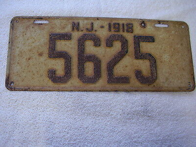 1918  New Jersey   License  Plate  5625