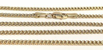 18k Solid Yellow Gold Italian Flat Curb/ Link Chain Necklace, 20Inches. 4.15Gr