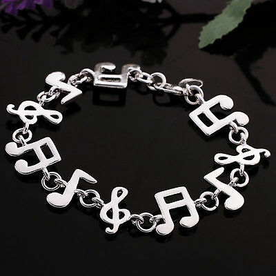 fashion jewelry 925 silver music notes hand bracelet bangle eur 0 93 picclick ie. Black Bedroom Furniture Sets. Home Design Ideas