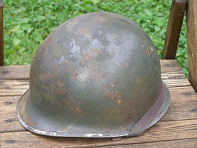WWII US Military Army Helmet w/ Liner Soldier Infantry WW2 World War