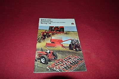 International Harvester Parts Buyers Guide Spring 1972 Dealers Brochure YABE12