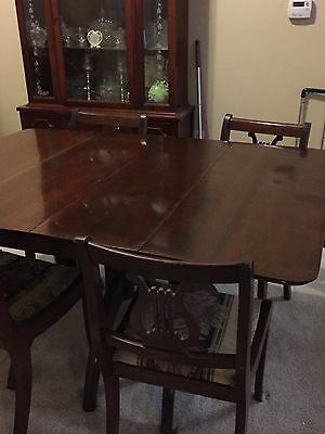 Antique Mahogany Duncan Phyfe Style Table And China Cabinet 1920's