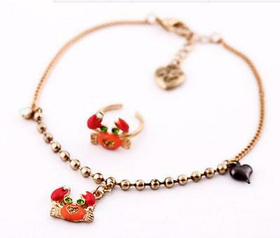 Charming Betsey Johnson Fashion Jewelry Crab pendant lady anklet foot ring