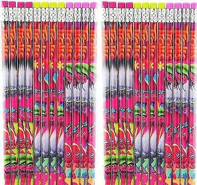 24pc DreamWorks Trolls Pencils School Stationary Supplies Party Favors Fill Gift