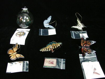 Lot of 6 Butterfly Glass Figurines Ornaments Lenox Spring Time Easter Home Decor