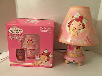 Rare Strawberry Shortcake Nursery For Baby Nightlight Lamp Light Hard To Find