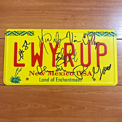 """BETTER CALL SAUL SIGNED """"LWYRUP"""" LICENSE PLATE BY 6 CAST w/ PROOF BOB ODENKIRK"""