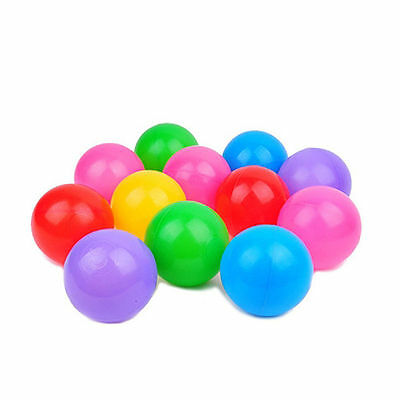 100X Multi-Color Cute Kids Soft Play Balls Toy for Ball Pit Swim Pit Ball PoolSN