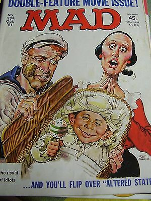 Rare Mad Magazine # 234  1981 Comedy Double Feature Movie Issue