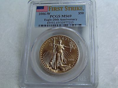 2006-W $10 Gold Eagle-20th Anniversary   /   PCGS First Strike - Mint State
