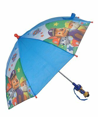 Paw Patrol Marshall, Tan & Chase Allover Print 22 IN Umbrella- Chase Handle