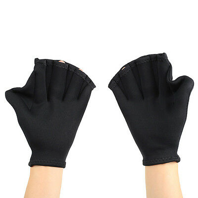 Swimming Diving Training Hand Flippers Swim Finger Webbed Gloves Paddle Palm